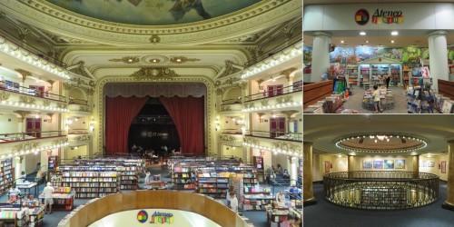 Foto montagem El Ateneo Grand Splendid: panorama, Ateneo Junior, antesala