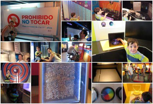 Foto montagem de experiências no Museu Proibido Não Tocar