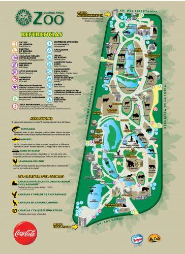 Mapa do Zoo de Buenos Aires