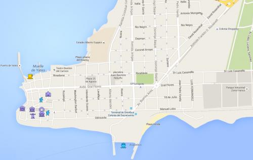 Mapa do Centro Histórico e redondezas